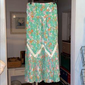 NWT Anthropologie - Maeve flora skirt bottom pants